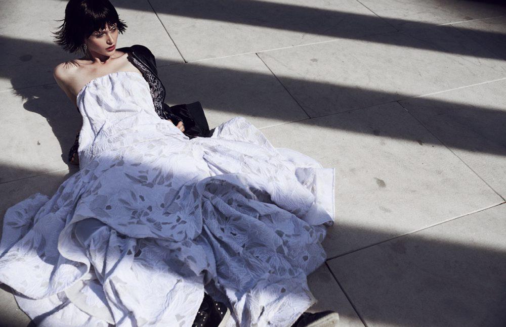 Gown / Maticevski Jacket / Zoe Karssen Gloves / Karl Lagerfeld Bracelet / Ted Baker