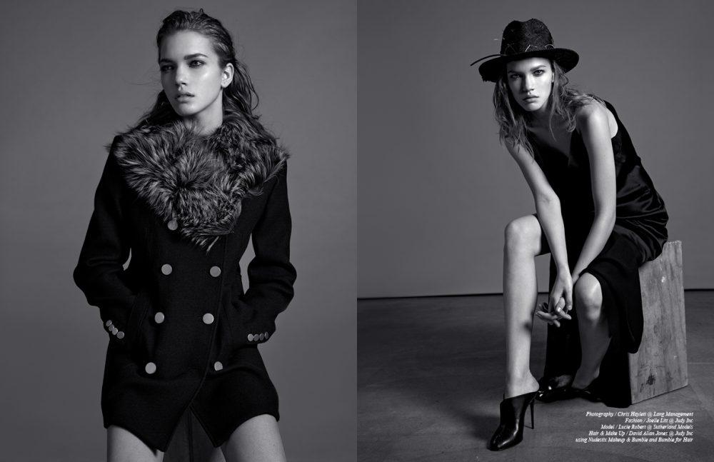 Coat / Theory Opposite Dress / Alexander Wang Hat / CLAUDIA SCHULZ