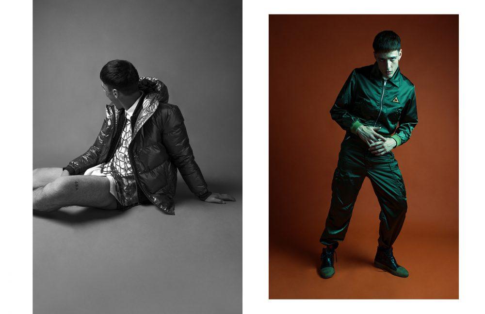 Bomber / Hilfiger Denim Jumper / Diesel Metallic Shirt / Stefano De Lellis Shirt / 120% Lino Opposite Look / Iceberg Shoes / Rocco P.