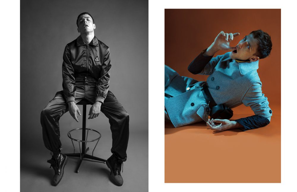 Look / Iceberg Shoes / Rocco P. Opposite Trousers & Jacket / Giorgio Armani Jacket / Zerosettanta Studio Fanny Pack / SALAR