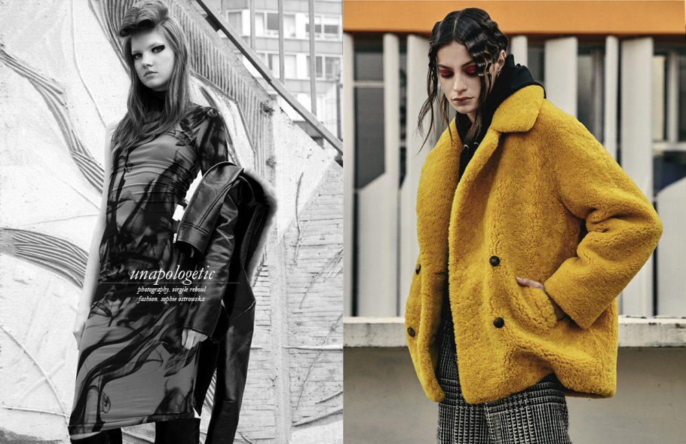 Dress / Essentiel Antwerp Jacket / Manoush Boots / Barbara Bui Opposite Coat / Roseanna Jumper / Huber Egloff Trousers / Emanuel Ungaro