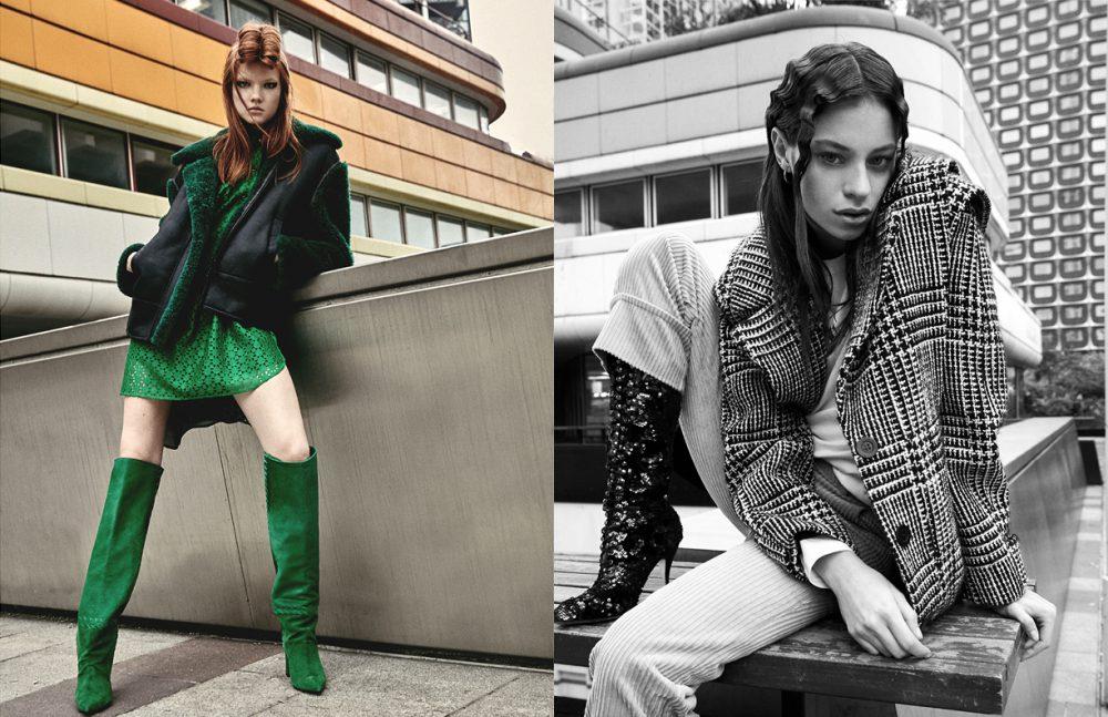 Coat & Boots / Barbara Bui Dress / Roseanna Opposite Jacket / Emanuel Ungaro Longlseeve / Huber Egloff Trousers / Manoush Boots / SHIATZY CHEN