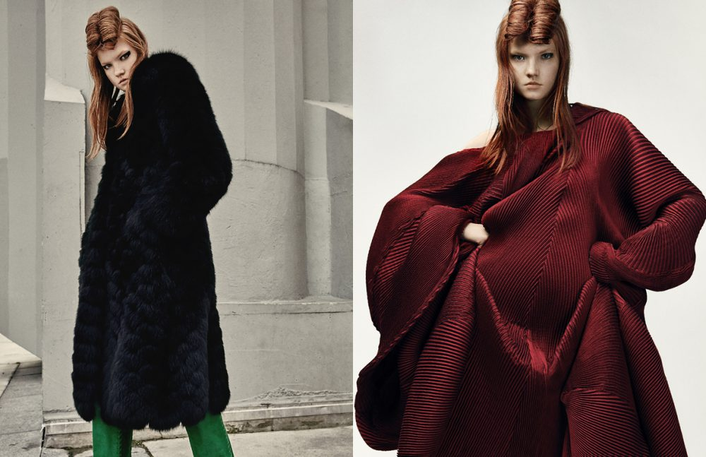 Coat / Ellery Boots / Barbara Bui Opposite  Coat / Issey Miyake
