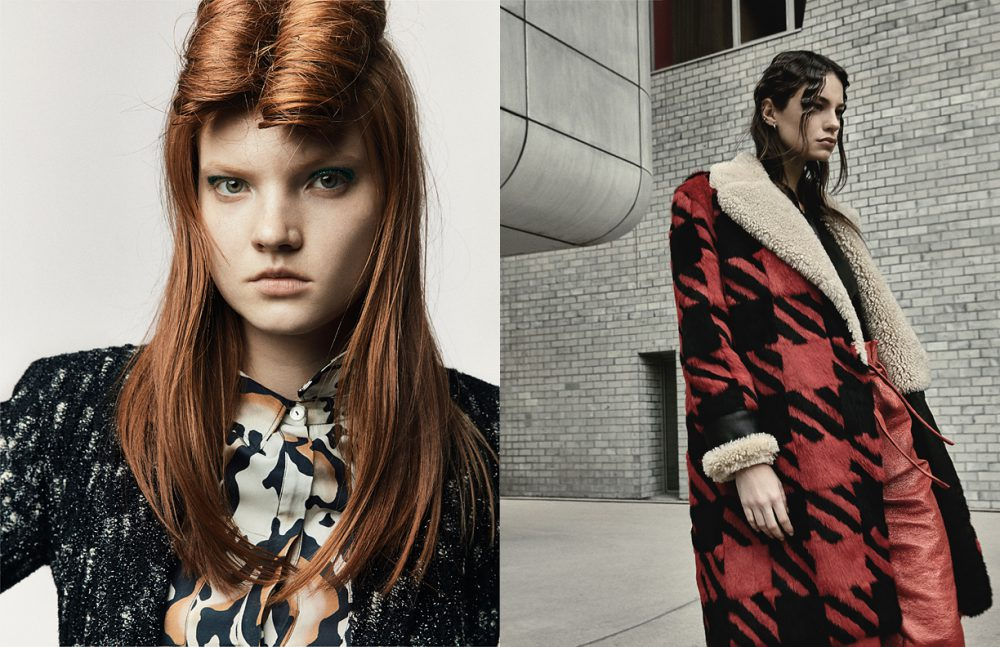Coat / Huber Egloff Dress / Valentine Gauthier Opposite Coat & Shirt / Barbara Bui Trousers / Sessún