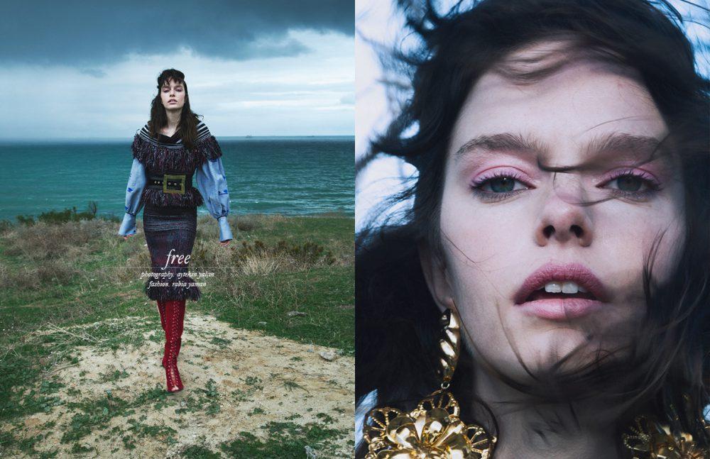 Dress, Belt & Boots / Raisa Vanessa Blouse / Lug Von Siga Opposite Earrings / ElifŞimal Fashion Art