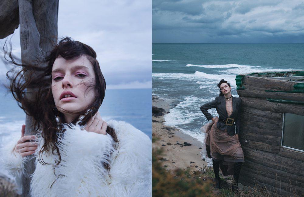 Earrings / ElifŞimal Fashion Art Blouse / Natalie Kolyozyan Opposite Jacket / Max Mara Dress & Belt / DILEK HANIF Boots / ZARA