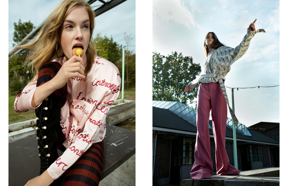 Shirt / iNDiViDUALS Leggings / Christian Wijnants Boots / Casadei Opposite Jacket / IRO Trousers / iNDiViDUALS
