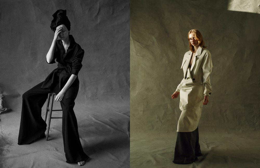 Coats / H&M Studio Headpiece / Made of Skirt from Hope Trousers / Diesel Opposite Coat / Weekday Trousers / Diesel