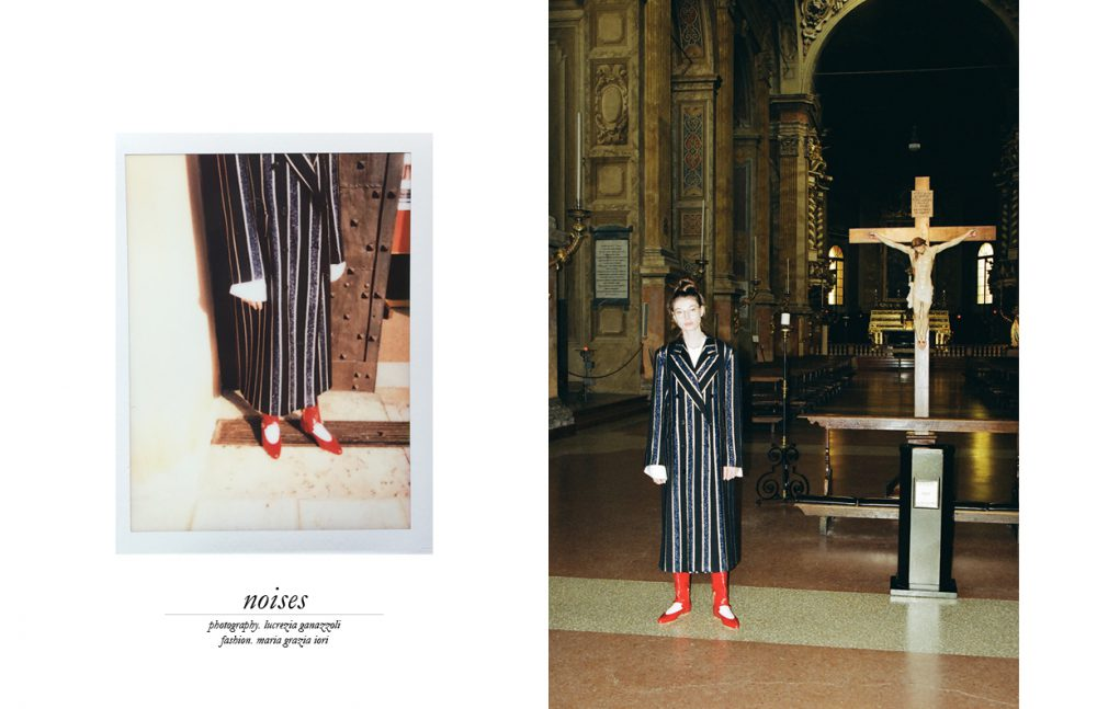 Coat & Skirt / Dries Van Noten Shoes / Marni Eyewear / Dior Vintage