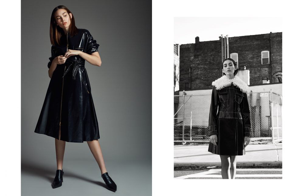 Dress / DIOR Belt / Bottega Veneta Shoes / Acne Studios Opposite Jacket & Skirt / Proenza Schouler Tights / Wolford