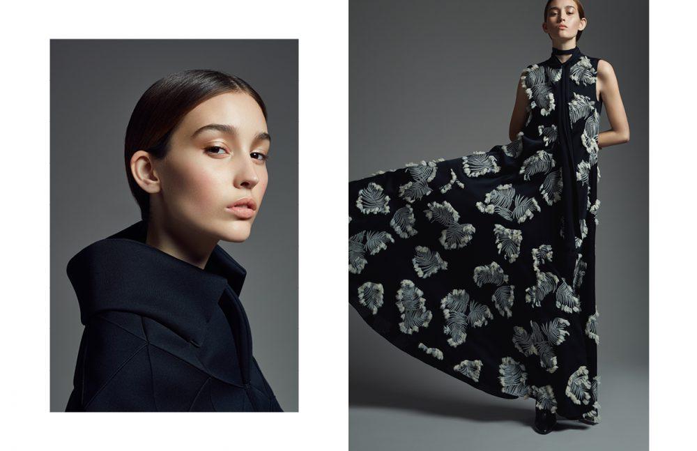 Dress / Chloé Opposite Jacket / Junya Watanabe Shoes / Acne Studios