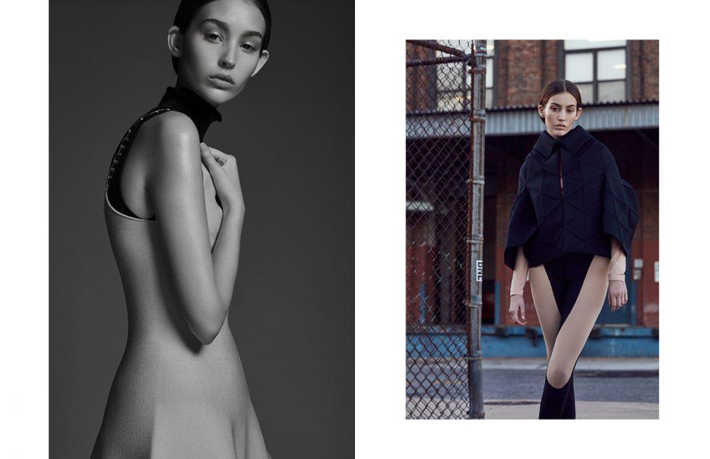 Turtleneck / Acne Studios Top / Alexander Wang Opposite Jacket / Junya Watanabe Top / Calvin Klein Trousers / Céline