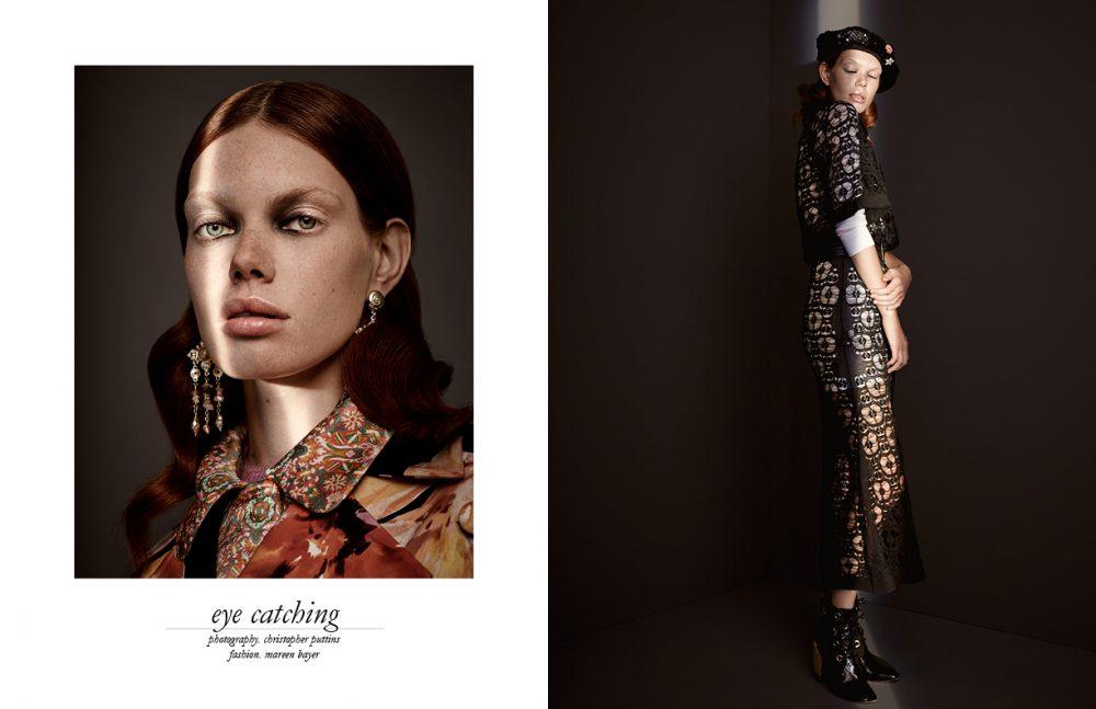 Earrings / CHANEL Jacket / Lanvin Fuchsia Jacket & Top / Miu Miu Opposite Beret, Dress, Underdress & Belt / CHANEL Boots / Dior