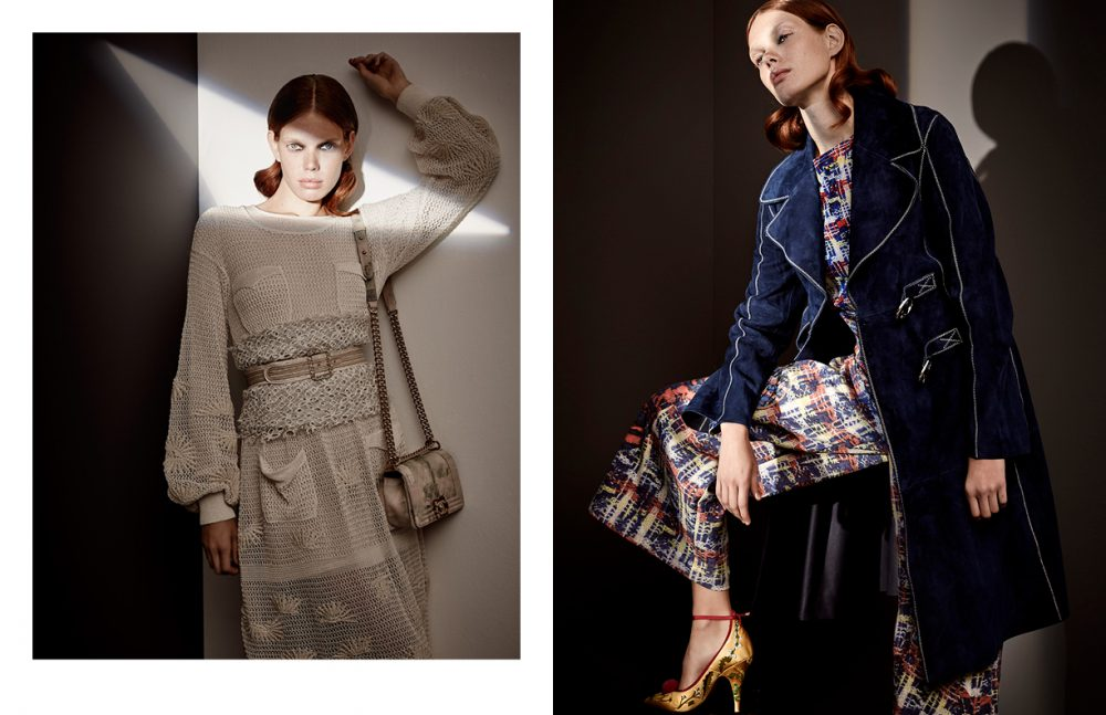 Total Look / CHANEL Opposite Coat / Sportmax Top & Trousers / Tsumori Chisato Shoes / Bally