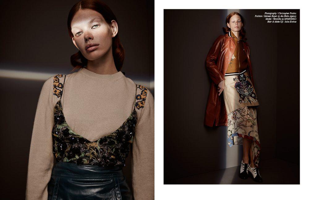 Jumper / Dorothee Schumacher Dress / Christian Dior Skirt / Bottega Veneta Opposite Coat / Bottega Veneta Jacket / Bally Skirt / Miu Miu Printed Skirt / Tsumori Chisato Shoes / Sportmax