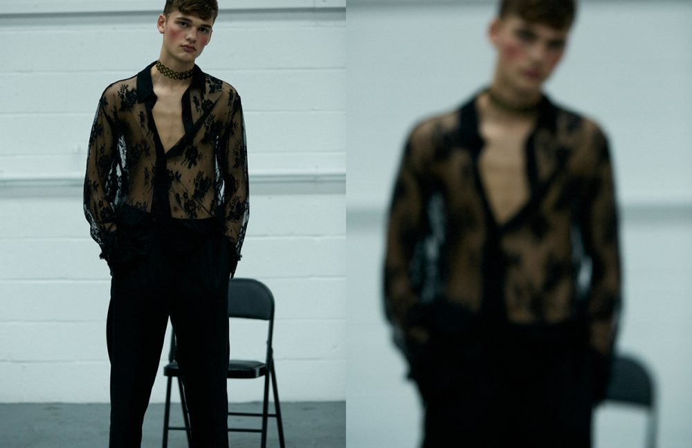 Shirt / McQ by Alexander McQueen Trousers / AMI Chokers / Stylist's Own