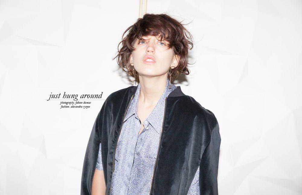 Cape / Rossella Jardini Shirt / Huber Egloff Earrings / Stylist's Own