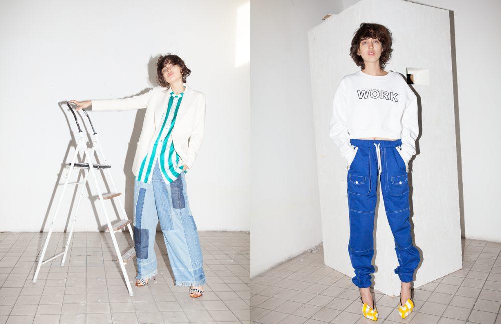 Jacket / Rossella Jardini Shirt / MAISON PÈRE Jeans / Zucca Sandals / Cesare Paciotti Opposite Jumper & Joggers / ANDREA CREWS Sandals / Giannico