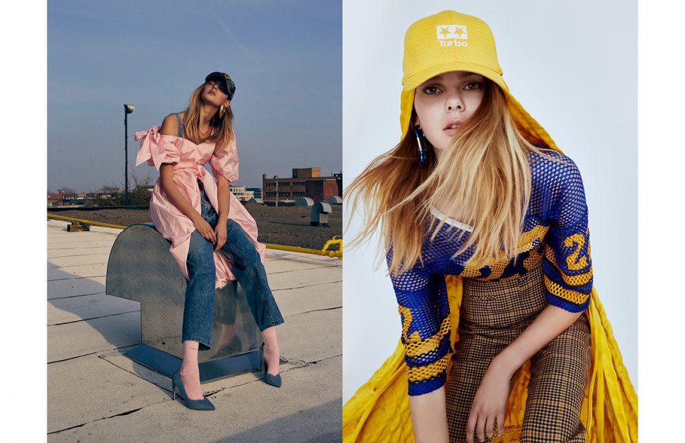 Dress / Greta Constantine Bra / Topshop Denim Jeans / Tommy Hilfiger Heels / Saint Laurent Opposite Trousers / Balenciaga @ SSENSE Earring / Balenciaga Top / COOL KOALA Hat / Turbo