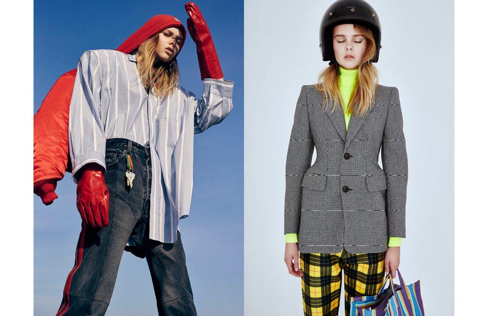 Full Look / Vetements Opposite Top & Jacket / Balenciaga Trousers / Atelier Wonder