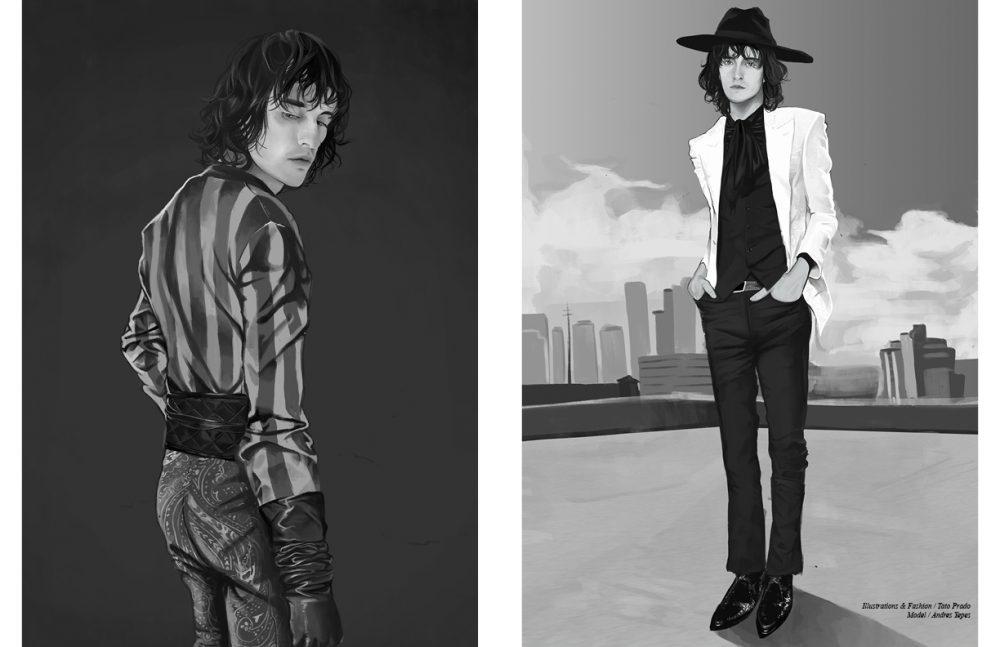Full Look / Balmain Opposite Full Look / Saint Laurent