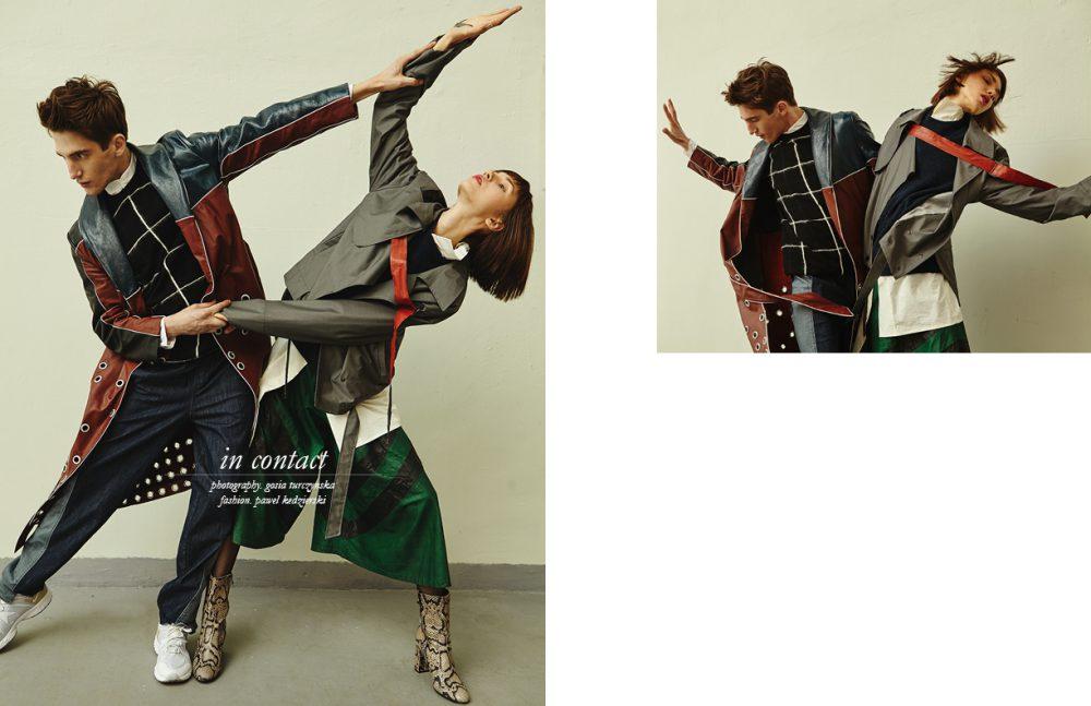 Anatol wears Coat / Michał Mrzygłód Jumper / McQ (vitkac.com) Shirt / Enfin Levé Trousers / MMC Trainers / Nike Angie wears Jacket & Shirt / MMC Jumper / COS Trousers / Vintage (safripsti.com) Boots / OCHNIK