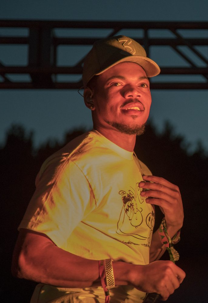 Chance The Rapper performing at Revolve